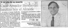 Calle Amador Bendayán. Publicado el 4 de agosto de 1990.