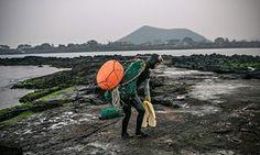 "The haenyeo, or ""sea women"" of Jeju Island"