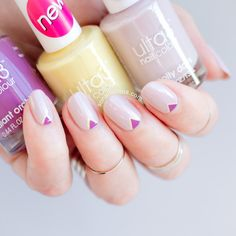Delicate nail art with Ulta3 summer 2015.