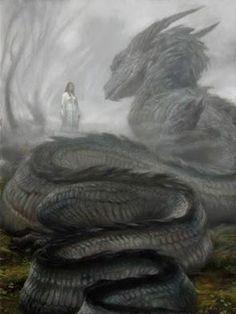 Glaurung e Nienor Niniel. Glaurung foi o primeiro dos Dragões criados por Morgoth, foi ele também o pai de todos os dragões. Era muito inteligente, cruel e possuía muitos poderes. Usando um desses poderes, ele colocou Nienor em um estado de amnésia.  Foi nessa época que os irmãos Turim e Nienor cometeram incesto, sem saberem que eram irmãos.