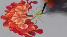 Learn Different types of flowers from one stroke painting ~ Crazzy Craft