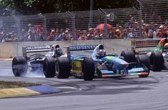 © Unknown 1994 Australian Grand Prix (Adelaide) Michael Schumacher (Benetton Ford Cosworth) Pierluigi Martini (Minardi Ford Cosworth) Damon Hi. Le Mans, Albert Park Melbourne, Formula One Champions, Gerhard Berger, Damon Hill, Australian Grand Prix, Michael Schumacher, Indy Cars, World Of Sports