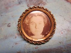 Edwardian Victorian Brooch Mourning Photo Pin by IfindUseekVintage, $20.00