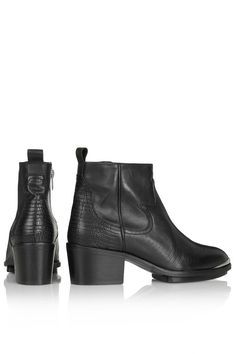 Perfect black western ankle boot