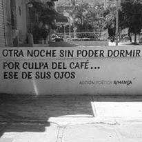 Otra noche sin poder dormir por culpa del café.. Ese de sus ojos  #muros #calle
