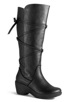 Revel Tall Strappy Comfort Boot-Wide Width Cloudwalker Boot-Avenue