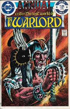 Warlord Annual - Gateway To Doom Mike Grell cover, inker, penciler, writer Dc Comics Art, Fun Comics, Marvel Comics, Comic Book Covers, Comic Books Art, Book Art, Beste Comics, The Warlord, Art Story
