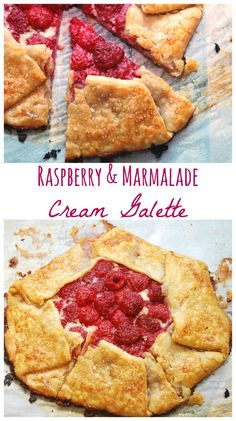 Make this easy Raspberry & Marmalade Cream Galette! This is such an easy dessert.  It's a rustic tart that you can make for week night dinner! #AD: