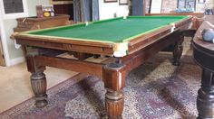 BEFORE.8ft antique snooker diner table by Smarts.