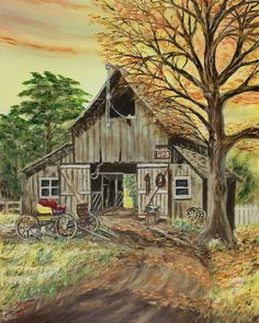 """Barn and Buggy"" Fine Art Print by Ken LePoidevin [5154026-1] - RedBubble on imgfave"