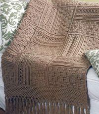 5 Stunning Aran Afghans Basketweave Sampler Crochet Pattern Book @ Juxtapost.com