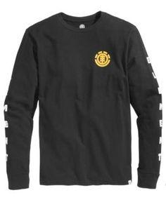 Element Men's Logo Long-Sleeve T-Shirt - Black 2XL