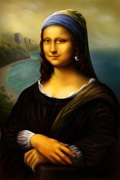 Mona Lisa with a pearl earring [BLeMinh] (Gioconda / Mona Lisa)