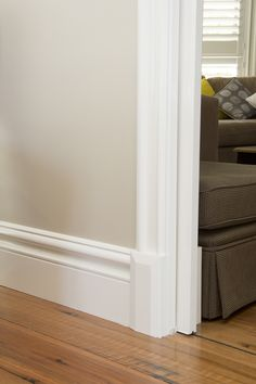 Colonial Victorian House using Intrim Group Skirtings, Architraves and Skirting Blocks Home Design Plans, Home Interior Design, Interior Decorating, Victorian Skirting Board, Door Frame Molding, Architrave, Coving, House Color Palettes, Traditional Style Homes