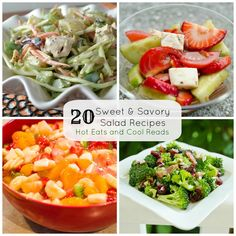 Hot Eats and Cool Reads: 20 Sweet and Savory Salad Recipes! Perfect for Memorial Day!