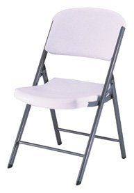 Lifetime 42804 Folding Chair with Molded Seat and Back, White Granite, Set of 4 by Lifetime Products. $115.88. Superior Strength. Made of High-Impact Polyethylene. Wide Seat and Tall Back. Steel Frame with All-Weather Finish. Stain Resistant and Easy to Clean. Featuring our innovative polyethylene technology, the Lifetime Contoured Commercial Folding Chair is contoured for comfort and designed for durability.  A wider seat and taller back provide superior comfort while p...