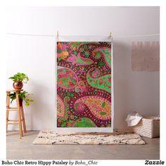 Boho Chic Retro Hippy Paisley Fabric Bohemian Fabric, Sewing Projects, Diy Projects, Paisley Fabric, Custom Fabric, Crafts To Make, Printing On Fabric, Boho Chic, Tapestry