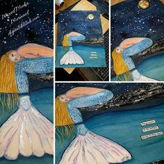 Mixed Media Mermaid, Things aren't always on the surface as they appear...