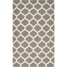 Love this cute gray area rug