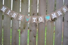Cuuuute  Wedding Shower, Miss to Mrs Banner, Bride to Be, Bachelorette Party, Bacheloretty Party Decorations, Bridal Shower Banner, Bridal Shower