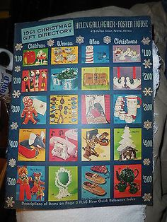 vintage 1961 helen gallagher foster house christmas gift catalog peoria illinois - Christmas Gift Catalogs