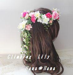 画像は 造花タイプの花冠のお値段のイメージです。 オーダー花冠承ります。 色変更、デザイン変更、ドレスと色合わせも可能 (ボリュームU... ハンドメイド、手作り、手仕事品の通販・販売・購入ならCreema。