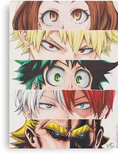 My Hero Academia eyes Canvas Print