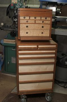 Mahogany Machinist ToolCart