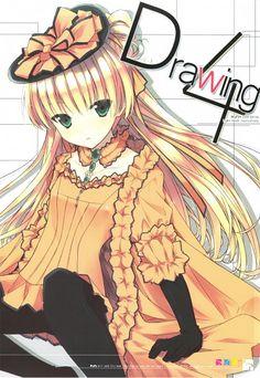 Tags: Anime, Pantyhose, GOSICK, Orange Outfit, Victorique de Blois, Orange Dress, Hime Cut