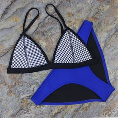 Women Mesh Neoprene Bikini Triangle Swimsuit Beach Swimwear – Stylish n Trendier https://www.stylishntrendier.com/