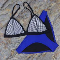 Women Mesh Neoprene Bikini Triangle Swimsuit Beach Swimwear – Stylish n Trendier https://www.stylishntrendier.com/