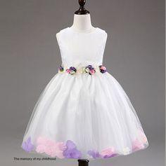 New-Cute-Kids-Dress-Ball-Gown-Wedding-Flower-Girls-Dresses-Bubble-Dress-2T-7T