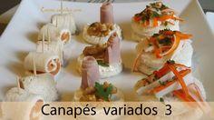 Canapés variados 3, fáciles y sabrosos - varied canapé, #225 - Cocina e...