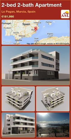 Apartment for Sale in Lo Pagan, Murcia, Spain with 2 bedrooms, 2 bathrooms - A Spanish Life Apartments For Sale, Valencia, Portugal, Murcia Spain, Pent House, Stunning View, New Builds, Beach Fun, Palmas
