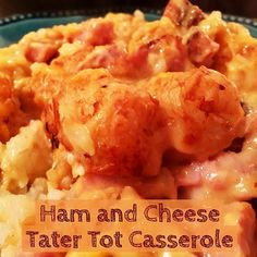 Ham and Cheese Tater Tot Casserole http://www.momspantrykitchen.com/ham-and-cheese-tater-tot-casserole.html