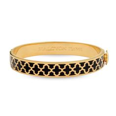 Halcyon Days D.H Bangle 1Cm Agama Black Gold