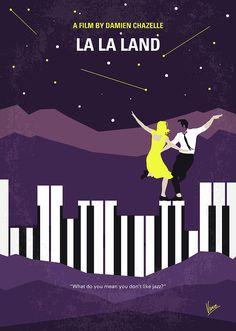 No756 My La La Land Minimal Movie Poster Digital Art by Chungkong Art
