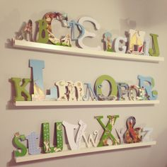 Where The Wild Things Are nursery alphabet wall .. modge-podge pages from the book to the leters