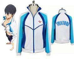 Casual Free! Iwatobi Swim Club Haruka Nanase Sport Hoodie Anime Cosplay Costume picclick.com