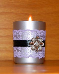 Roaring 20s Wedding / Wedding Votive by CarolesWeddingWhimsy, This set of 6 Metallic Silver and Black, Roaring 20s Wedding, Gatsby Wedding and Art Deco Wedding votive candle holder can be found here https://www.etsy.com/listing/259160702/roaring-20s-wedding-wedding-votive