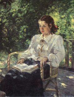 A. GERISIMOS 1881.1963. A DAUGHTER'S PORTRAIT