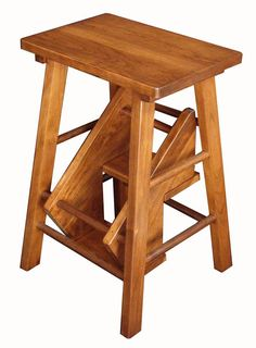 Amish Hardwood Folding Step Stool