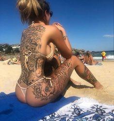 15 Special Tattoos For Sexy Girls Tattoo Girls, Girl Tattoos, Sexy Tattoos, Body Art Tattoos, Tattoos For Women, Tattooed Women, Tattoo Art, Female Tattoos, Badass Tattoos