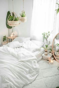 In the era of sleek, modern design, rustic style is still favored for its old-school charm. Rustic bedroom furniture, for example, reflects the simpler and homie appeal of a farmhouse. Room Inspiration, Bedroom Decor, Rustic Bedroom Furniture, Minimalist Bedroom, Home, Bedroom Inspirations, Bohemian Room, White Bedroom Design, Bedroom Design