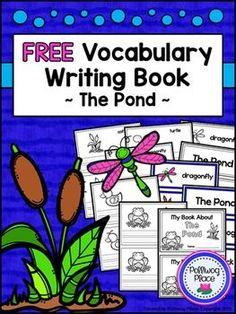 Free Vocabulary Writing Book - The Pond {Freebie}