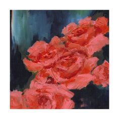 Coral Roses Wall Art Prints by Sonal Nathwani | Minted