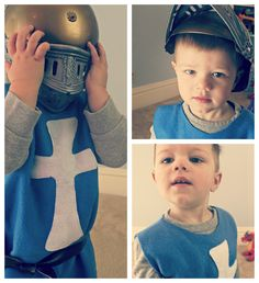 homemade baby knight costume | DIY Knight's Tunic | Pretty Prudent