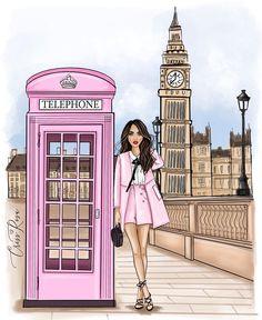 Fashion Artwork, Fashion Wall Art, Dress Design Sketches, Fashion Sketches, Arte Do Mickey Mouse, Anime Warrior Girl, Cute Galaxy Wallpaper, London Girls, Happy Paintings