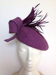 Tweed beret by Alison Roe Millinery