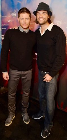 I do appreciate men who can wear a sweater well. -Jared Padalecki and Jensen Ackles at the SPN200 fan party.-